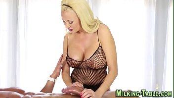 Pretty masseuse gets jizz