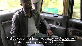 Black dude anal fucks busty cab driver