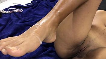 Massage Ends On Footjob After The GYM - Mariangel Belle