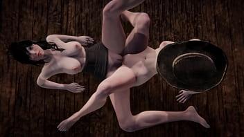 3D Porn - Pale twins 3some