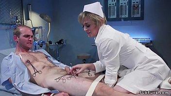 Huge tits Milf nurse anal fucks man