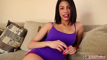 Beautiful Latina Fingers Herself Then Sucks Cock