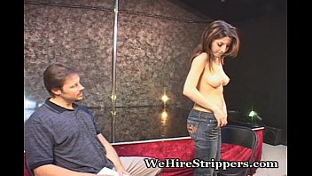 Coed stripper - Coed squeezing out every last drop