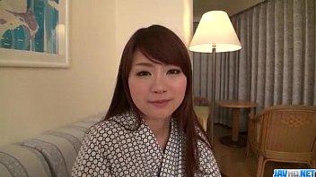 Mayuka Akimoto lingerie girl blows cock in POV