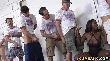 Ebony Jessica Grabbit Enjoys Gangbang With White Guys