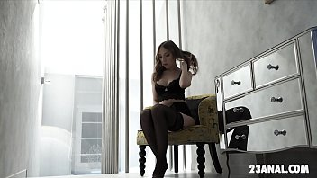 Lina Mercury Enjoys Anal Sex In Black Lace Lingerie
