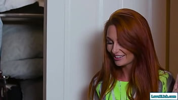 Redhead joins stepsisters in a threesome