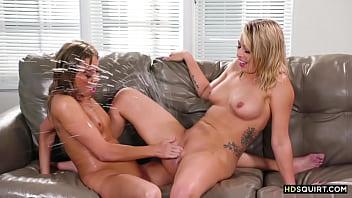 Stranger girl squirting in my living room! - Zoey Monroe, Christy Love 6 min