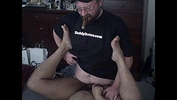 Cigar sex for gay guys Hung cigar top daddy bear fucks tight bottom
