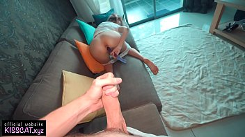 Step Sister Rides on Virgin Brother's Big Dick until Cum on Pussy