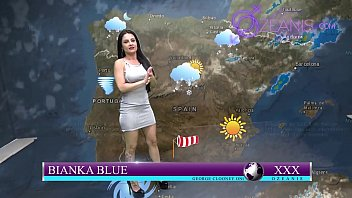 Follandose la chica de clima en vivo ( kevin white y Bianka Blue)