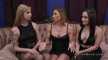 Lesbian butt sniffers got anal strap on 5 min