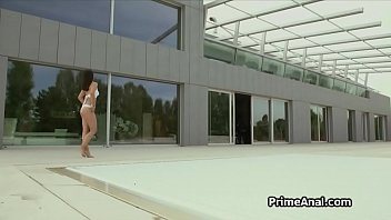 Crazy hot Latina babe ass fucked outdoors
