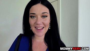 Brunette milf mom asks step son for a fuck 8 min