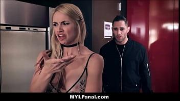 Cheating Big Tits Blonde MILF Stepmom Sarah Vandella Anal Fuck By Stepson In Hotel Room thumbnail