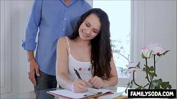 Dad Interrupts Daughters Homework