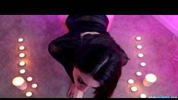Goth Babe Blows Dildo On Cam