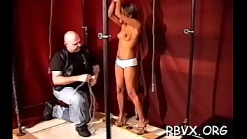 Handsome young girl gets her 1st bondage experience