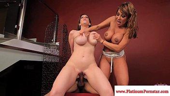 Sara Jay and Ava Devine enjoy a threeway 10 min