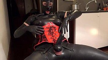 Cumming over my fetish corset