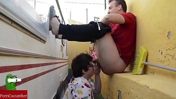 Blowjob behind the motor home. RAF006