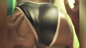 Scopa una ragazza in costume da bagno a scuola | Hentai porno 3D
