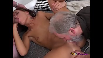 Teen Riana G Gets Shared By Pervy Old Men
