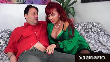 Big Tits Older Cumslut Sexy Vanessa Destroys a Lucky Guys Cock