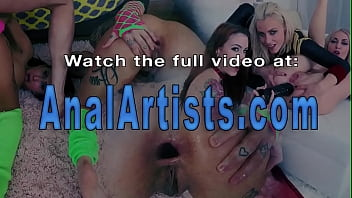 Ass toyed lesbians anal rose gets licked