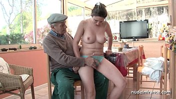 Nude just old enough - Nice titted french brunette banged by papy voyeur