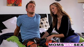 MILF Julia Ann Threeway With Step-Son & Teen Creampie pornhub video
