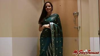 Prty Girl Jase Sari strips to show us 2