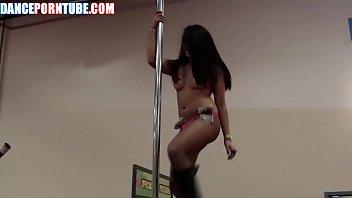 Asian Stripper Hot Pole Dance