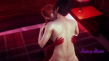 Evangelion Hentai 3D – Shinji & Asuka Blowjob and fucked with creampie – Japanese Anime manga porn