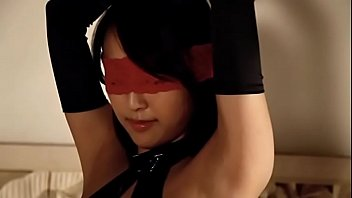 Sexy Asian Girl Wearing Red Blindfold