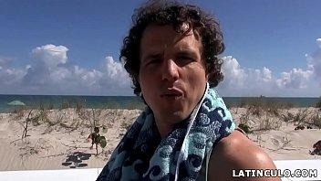 Thick and slutty latina Julz Gotti picked up on a beach