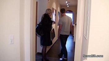 German MILF seduce Young Boy to Fuck when Home alone - 69VClub.Com