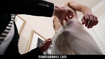 Gay twink pictures series Mormonboyz - handsome priest barebacks a young virgin missionary