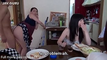mom gives her ass for son fuck while everyone is having lunch