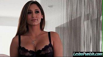 Mean Lesbo Punush With Dildos A Lovely Cute Lez Girl (Reena Sky & Morgan Lee) video-28