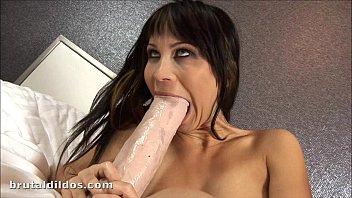 Russian slut Sonia fills her pussy with a b. dildo 7 min