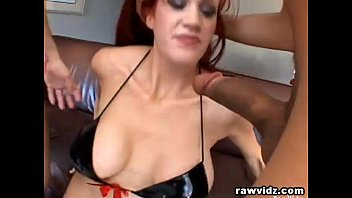 Redhead Milf Takes Care Of Two Hunks' Big Cocks