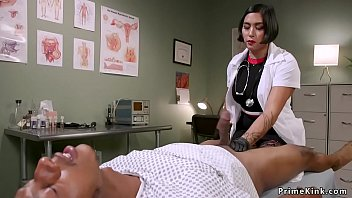 Asian doctor anal fucks black patient