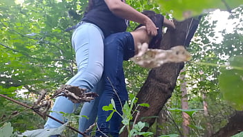 Fucked My Girlfriend With A Strapon In The Forest - Lesbian Illusion Girls