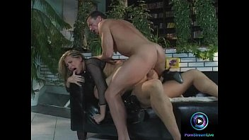 Mandy Bright screaming so hard in pleasure from double penetration