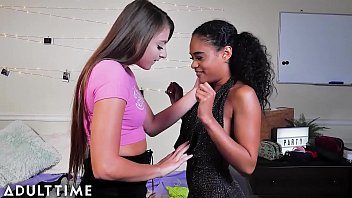 MODEL TIME - College Nerd Tries Lesbian Pussy for the First Time thumbnail