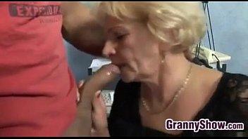 Grandma lingerie pics - Horny grandma in fishnets wants to fuck