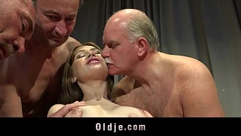 Sexy men with men - Young nurse gangbanged by five old doctors at a summit
