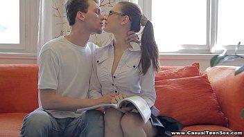 Casual sex with college teen porn nerd Timea Bella » xnxx dog thumbnail