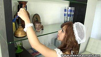 ExxxtraSmall Petite housemaid shaved pussy hardcore fucking